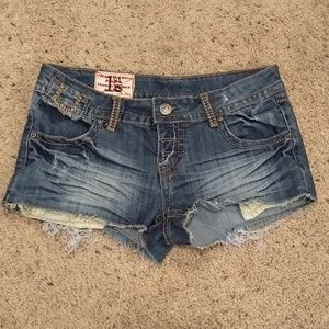 1st kiss denim shorts size 3